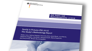 "Cover ""Daten- und Methodenbericht 2/2018"" (refer to: Family in Pictures (FiB 2015) The Study's Methodology Report)"