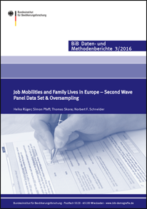 "Cover ""Job Mobilities and Family Lives in Europe – Second Wave"""