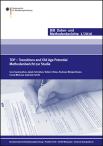"Cover ""TOP – Transitions and Old Age Potential. Methodenbericht zur Studie"" (verweist auf: TOP – Transitions and Old Age Potential. Methodenbericht zur Studie)"