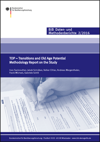 "Cover ""TOP – Transitions and Old Age Potential. Methodology Report on the Study"" (verweist auf: TOP – Transitions and Old Age Potential. Methodology Report on the Study)"