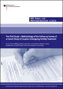 "Cover ""The PinK--Paare in Kinderwunschbehandlung Study – Methodology of the Follow-up Survey of a Cohort Study of Couples Undergoing Fertility Treatment"" (verweist auf: The PinK Study. Methodology of the Follow-up Survey of a Cohort Study of Couples Undergoing Fertility Treatment)"