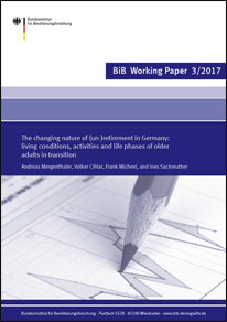 "Cover ""The changing nature of (un-)retirement in Germany: living conditions, activities and life phases of older adults in transition"" (verweist auf: The changing nature of (un-)retirement in Germany: living conditions, activities and life phases of older adults in transition)"